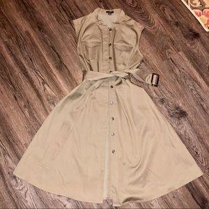Ann Taylor Shirt Dress with Matching Belt